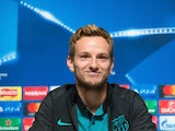 Barcelona's Ivan Rakitic speaks at a press conference ahead of his side's Champions League clash with Manchester City at the Etihad Stadium on November 1, 2016
