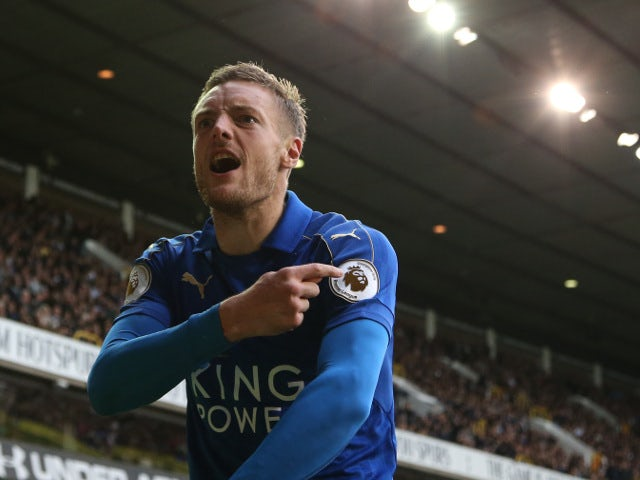 Leicester City striker Jamie Vardy in action during the Premier League clash with Tottenham Hotspur at White Hart Lane on October 29, 2016