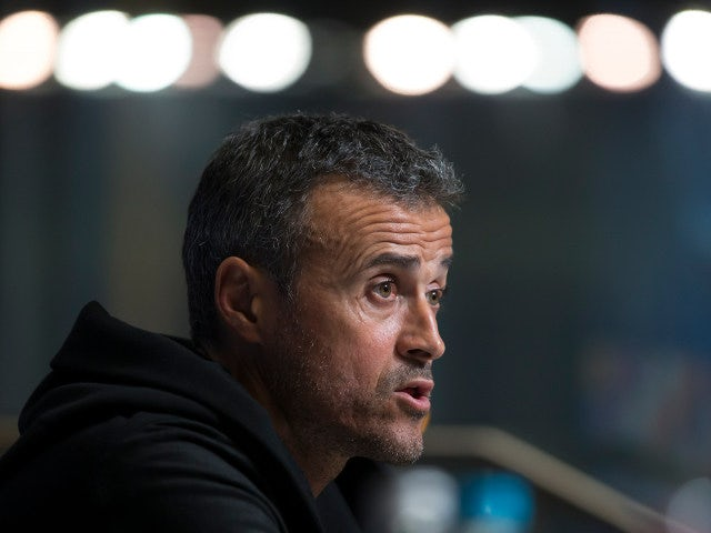 Barcelona manager Luis Enrique speaks at a press conference ahead of his side's Champions League clash with Manchester City at the Etihad Stadium on November 1, 2016