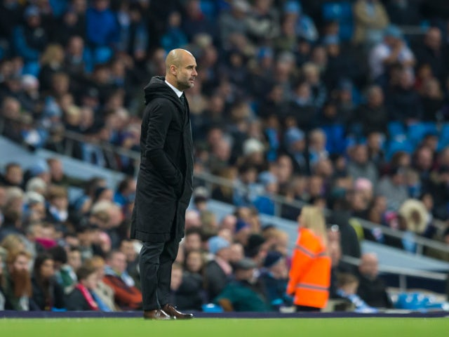 Manchester City manager Pep Guardiola looks on during his side's Premier League clash with Middlesbrough at the Etihad Stadium on November 5, 2016