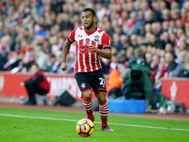 Ryan Bertrand of Southampton in action during his side's Premier League clash with Chelsea at St Mary's Stadium on October 30, 2016