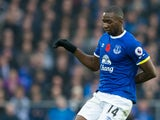 Everton winger Yannick Bolasie in action during his side's Premier League clash with West Ham United at Goodison Park on October 30, 2016