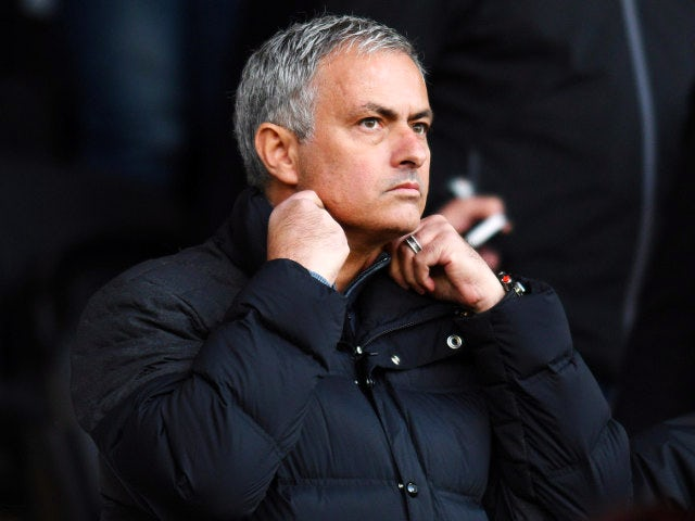 Manchester United manager Jose Mourinho watches on from the stands ahead of his side's Premier League clash with Swansea City at the Liberty Stadium on November 6, 2016