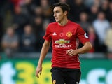 Matteo Darmian of Manchester United in action during their Premier League clash with Swansea City at the Liberty Stadium on November 6, 2016