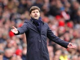 Tottenham Hotspur manager Mauricio Pochettino on the touchline during his side's North London derby against Arsenal at the Emirates Stadium on November 6, 2016