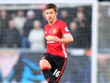 Michael Carrick of Manchester United in action during their Premier League clash with Swansea City at the Liberty Stadium on November 6, 2016