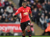 Paul Pogba of Manchester United in action during their Premier League clash with Swansea City at the Liberty Stadium on November 6, 2016