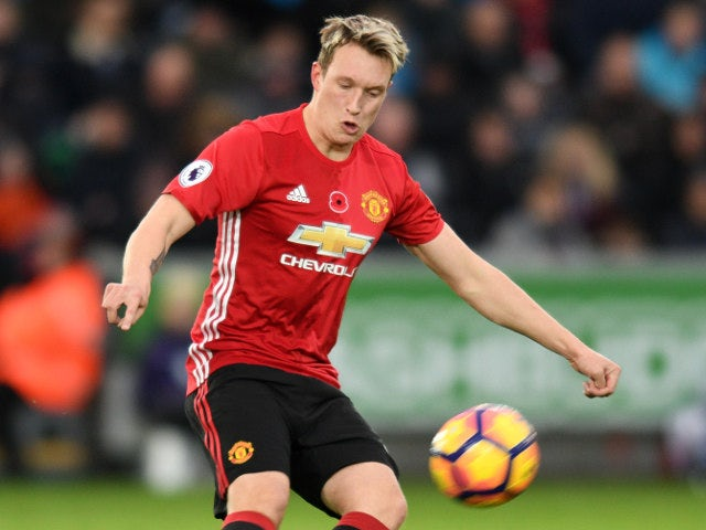 Phil Jones of Manchester United in action during their Premier League clash with Swansea City at the Liberty Stadium on November 6, 2016