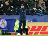 West Bromwich Albion manager Tony Pulis gestures on the touchline during his side's Premier League clash with Leicester City at the King Power Stadium on November 6, 2016