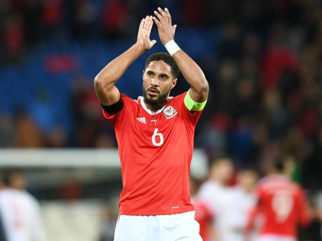Wales defender Ashley Williams in action during his side's World Cup qualifier with Serbia on November 12, 2016