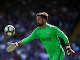 West Bromwich Albion goalkeeper Ben Foster in action during his side's Premier League clash with Crystal Palace at Selhurst Park on August 13, 2016