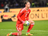 Germany goalkeeper Bernd Leno in action for his side during the international friendly with Italy in Milan on November 15, 2016