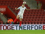 England Under-21s defender Calum Chambers in action during his side's friendly against Italy Under-21s on November 10, 2016