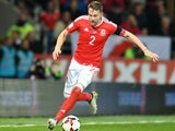 Wales defender Chris Gunter in action during his side's World Cup qualifier with Serbia on November 12, 2016
