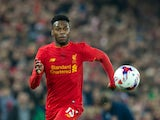 Liverpool striker Daniel Sturridge in action during his side's EFL Cup clash with Tottenham Hotspur at Anfield on October 25, 2016