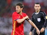 Spain midfielder David Silva in action during his side's international friendly with England at Wembley on November 15, 2016