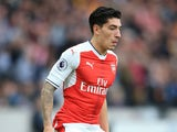 Arsenal full-back Hector Bellerin in action during his side's Premier League clash with Hull City at the Emirates Stadium on September 17, 2016