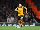 Arsenal full-back Hector Bellerin in action during his side's Champions League clash with FC Basel at the Emirates Stadium on September 28, 2016