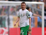 Republic of Ireland midfielder James McCarthy during the Euro 2016 match with Belgium in Bordeaux on June 18, 2016