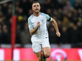 England midfielder Jordan Henderson in action during his side's World Cup qualifier against Scotland at Wembley on November 11, 2016