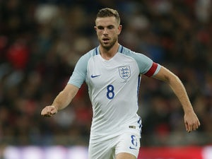 England midfielder Jordan Henderson in action during his side's international friendly with Spain at Wembley on November 15, 2016