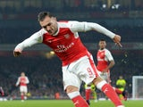 Arsenal forward Lucas Perez in action during the EFL Cup clash with Reading at the Emirates Stadium on October 25, 2016