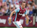West Ham United captain Mark Noble in action during his side's Premier League clash with Southampton at the London Stadium on September 25, 2016