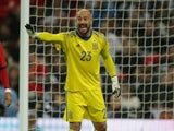 Spain goalkeeper Pepe Reina in action during his side's international friendly with England at Wembley on November 15, 2016