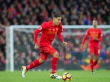Liverpool forward Roberto Firmino in action during his side's Premier League clash with Watford at Anfield on November 6, 2016
