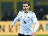 Germany's Sebastien Rudy in action for his side during the international friendly with Italy in Milan on November 15, 2016