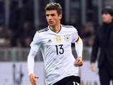 Germany forward Thomas Muller in action for his side during the international friendly with Italy on November 15, 2016
