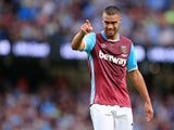 West Ham United defender Winston Reid in action during the Premier League clash with Manchester City at the Etihad Stadium on August 28, 2016