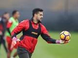 Adam Federici in action during a Bournemouth training session on November 23, 2016