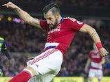 Alvaro Negredo in action for Middlesbrough on November 20, 2016