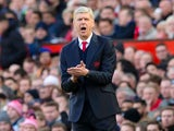 Arsenal manager Arsene Wenger on the touchline during the Premier League clash with Manchester United at Old Trafford on November 19, 2016