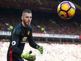 Manchester United goalkeeper David de Gea in action during the Premier League clash with Arsenal at Old Trafford on November 19, 2016