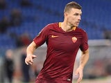Edin Dzeko in action during the Europa League game between Roma and Viktoria Plzen on November 24, 2016