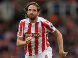Joe Allen in action for Stoke City on August 20, 2016