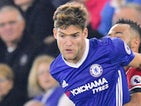 Marcos Alonso in action for Chelsea on October 30, 2016