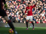 Manchester United defender Marcos Rojo in action during the Premier League clash with Arsenal at Old Trafford on November 19, 2016