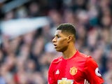 Manchester United striker Marcus Rashford in action during the Premier League clash with Arsenal at Old Trafford on November 19, 2016