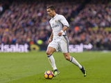 Cristiano Ronaldo in action during the La Liga game between Barcelona and Real Madrid on December 3, 2016