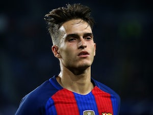 Denis Suarez in action during the Champions League game between Barcelona and Borussia Monchengladbach on December 6, 2016