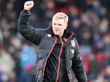 Eddie Howe celebrates after the Premier League game between Bournemouth and Liverpool on December 4, 2016
