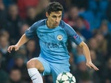 Jesus Navas in action during the Champions League game between Manchester City and Celtic on December 6, 2016
