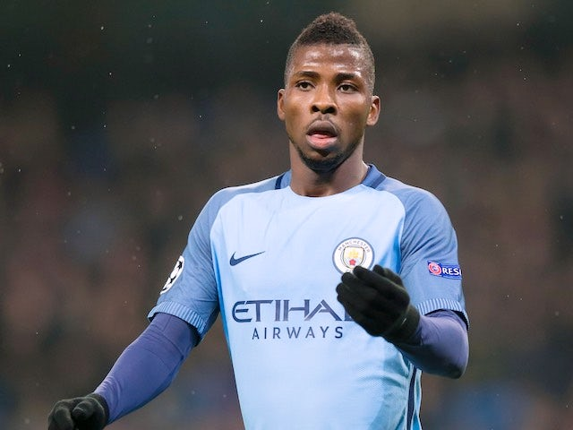 Kelechi Iheanacho in action during the Champions League game between Manchester City and Celtic on December 6, 2016