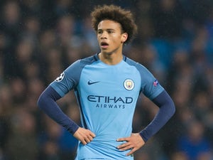 Leroy Sane in action during the Champions League game between Manchester City and Celtic on December 6, 2016