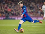 Lionel Messi in action during the La Liga game between Barcelona and Real Madrid on December 3, 2016