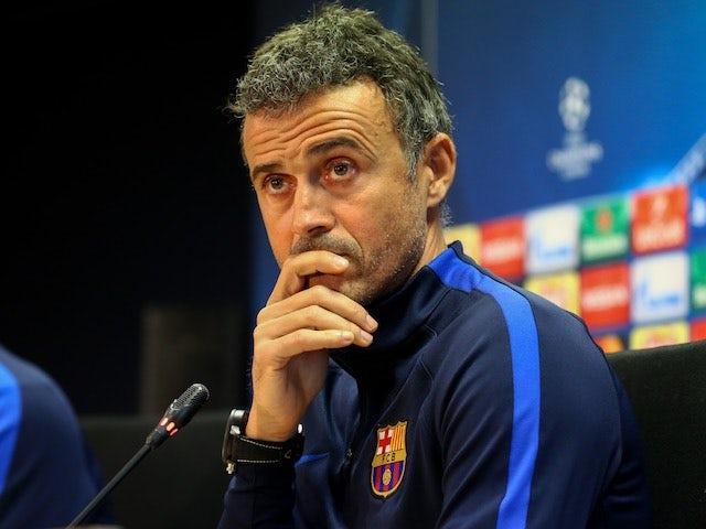 Barcelona manager Luis Enrique speaks to the media on December 5, 2016