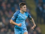 Pablo Maffeo in action during the Champions League game between Manchester City and Celtic on December 6, 2016